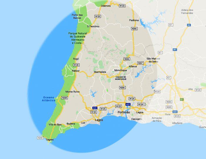 Algarve Landkarte